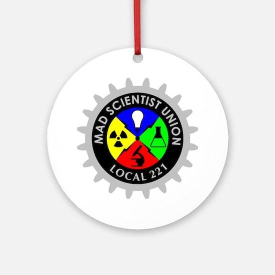 mad_scientist_union_logo_dark Round Ornament