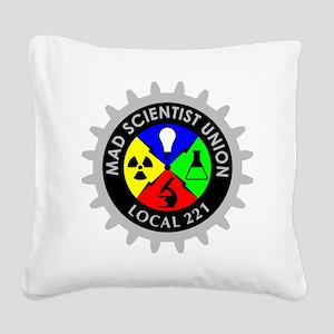 mad_scientist_union_logo_dark Square Canvas Pillow