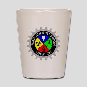 mad_scientist_union_logo_dark Shot Glass