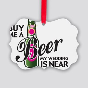 2-beerBrideTee Picture Ornament