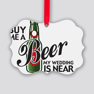 beerGroomTee Picture Ornament