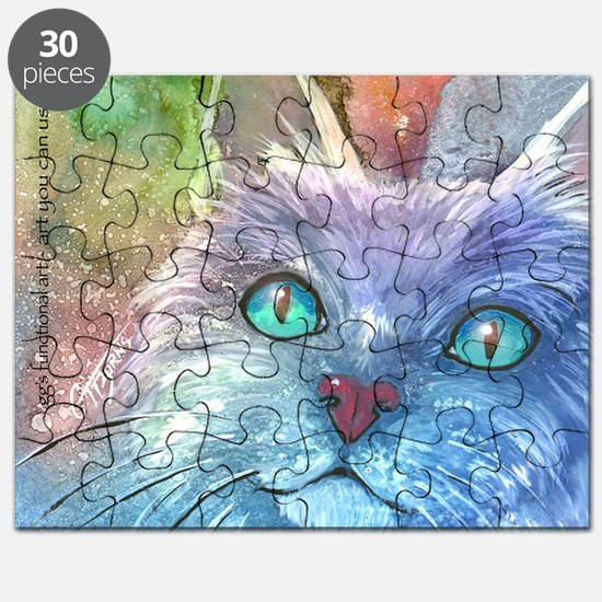 Blue, Bodacious, Beautiful Feline Puzzle