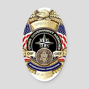 OGA Badge Oval Car Magnet