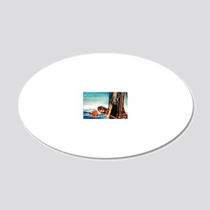 StillPainting_FP 20x12 Oval Wall Decal