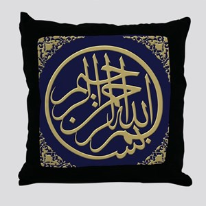 bism_gold_filla_on_blue_lg2_10_0 Throw Pillow