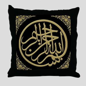 bism_gold_filla_on_black_lg2 Throw Pillow