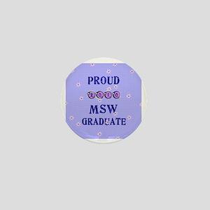 2-2010 msw graduate background Mini Button