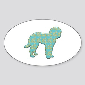 Paisley Goldendoodle Oval Sticker