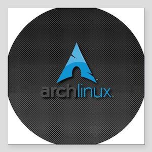 "PK0043-archlinux Square Car Magnet 3"" x 3"""