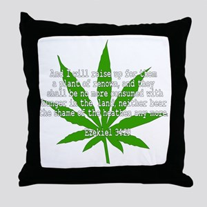 The Godly Herb Throw Pillow