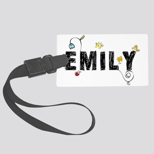 Emily Floral Large Luggage Tag