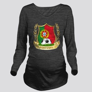 4-portugal Long Sleeve Maternity T-Shirt