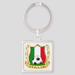 2-italia Square Keychain