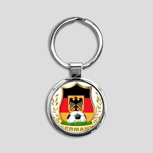 3-germany Round Keychain