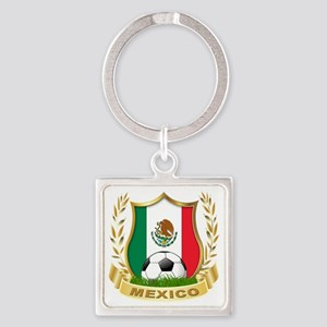 2-mexico Square Keychain