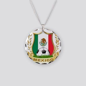 2-mexico Necklace Circle Charm