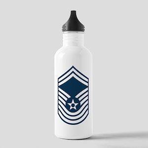 USAF-CMSgt-Old-Blue-PN Stainless Water Bottle 1.0L