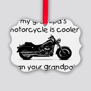 grandpas motorcycle Picture Ornament