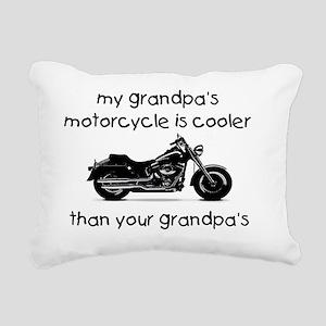 grandpas motorcycle Rectangular Canvas Pillow