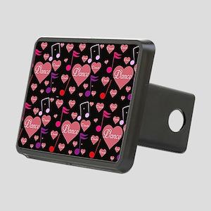 2-tile heart Rectangular Hitch Cover