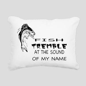 Fish Tremble at the Soun Rectangular Canvas Pillow