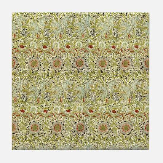 William Morris Corncockle Tile Coaster