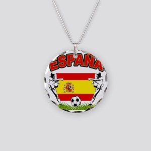 4-spain Necklace Circle Charm
