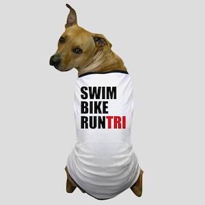 Swim-Bike-Run-Tri Dog T-Shirt