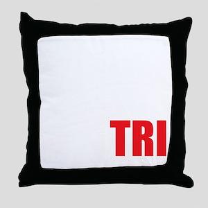 Swim-Bike-Run-Tri-WHITE Throw Pillow