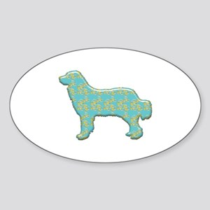 Paisley Pyrenees Oval Sticker