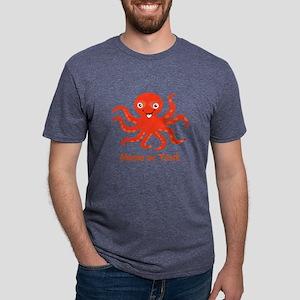 Cute Octopus Personalized Mens Tri-blend T-Shirt