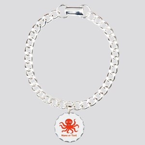 Cute Octopus Personalize Charm Bracelet, One Charm