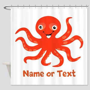 Cute Octopus Personalized Shower Curtain