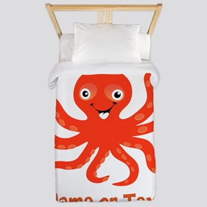 Cute Octopus Personalized Twin Duvet Cover