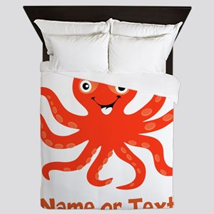 Cute Octopus Personalized Queen Duvet