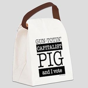 capitalist pig tee Canvas Lunch Bag