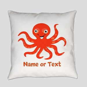 Cute Octopus Personalized Everyday Pillow