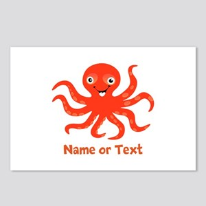Cute Octopus Personalized Postcards (Package of 8)
