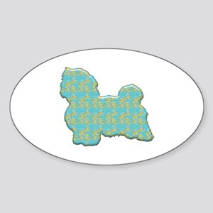Paisley Havanese Oval Sticker