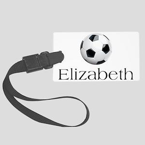 Elizabeth Soccer Large Luggage Tag
