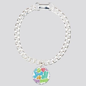 love-need2-T Charm Bracelet, One Charm