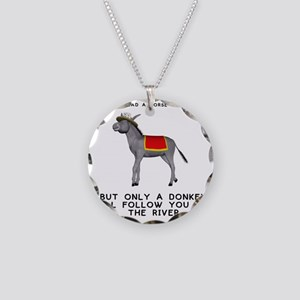 T0035A-DonkeyToRiver-2000x20 Necklace Circle Charm