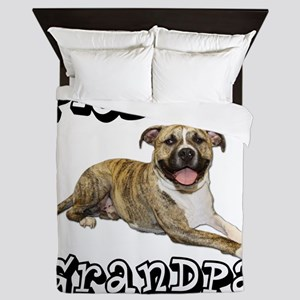 PitBullGrandpa_Tigger Queen Duvet