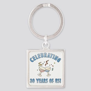 party30 Square Keychain