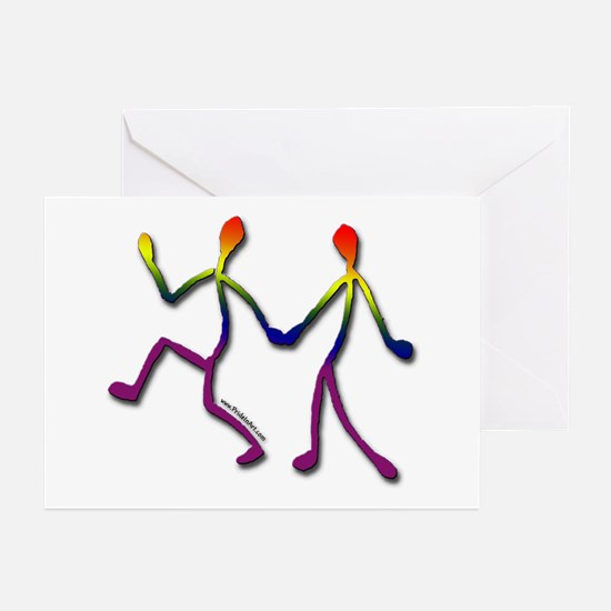 Gay Pride Stick Figures Greeting Cards (6)