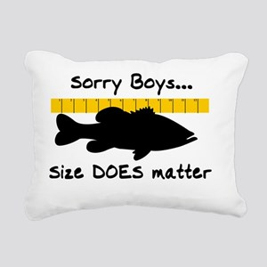 SORRY BOYS 4 WHITE Rectangular Canvas Pillow