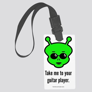 Guitar Alien Large Luggage Tag