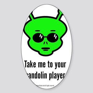 Alien Mandolin Sticker (Oval)