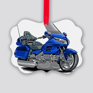 Goldwing Blue Bike Picture Ornament
