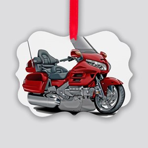 Goldwing Red Bike Picture Ornament